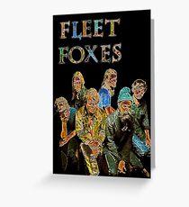 Fleet Foxes Greeting Card