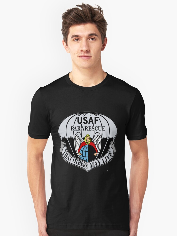 USAF Para Rescue Special Forces Logo Unisex T-Shirt Front