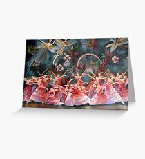 the Russian national ballet theatre of Moscow.. Greeting Card