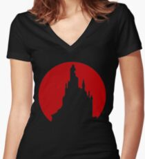 Die monster! You don't belong in this world! Women's Fitted V-Neck T-Shirt