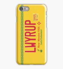 LWYRUP License Plate (Breaking Bad) iPhone Case iPhone Case/Skin
