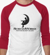 ScreamWorks (Black) Men's Baseball ¾ T-Shirt