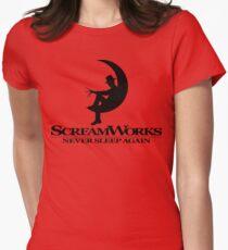 ScreamWorks (Black) Women's Fitted T-Shirt