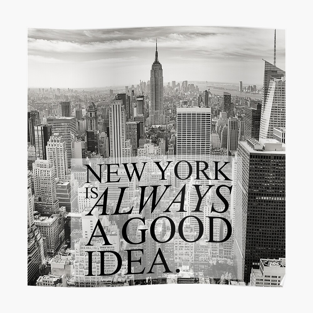 Nueva York es siempre una buena idea Póster