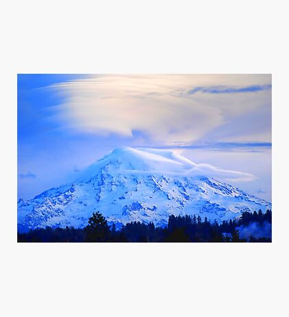 Lenticular Clouds Over Rainier Photographic Print
