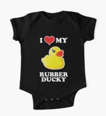 I Love My Rubber Ducky [iPad / iPhone / iPod Case, Print & Tshirt] One Piece - Short Sleeve