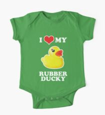 I Love My Rubber Ducky [iPad / iPhone / iPod Case, Print & Tshirt] One Piece - Short Sleeve