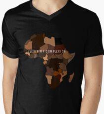 Flexin Mein Teint T-Shirt mit V-Ausschnitt für Männer