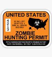 Zombie Hunting Permit 2012/2013 Sticker