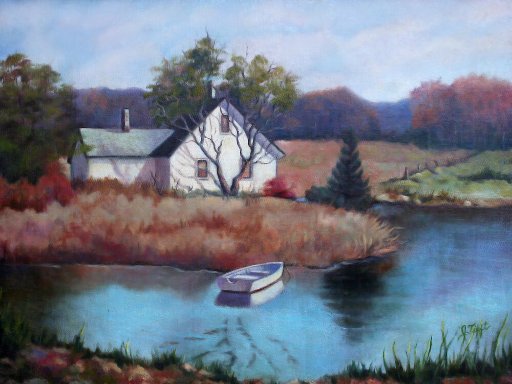 Lake House Painting by JamieTifft