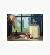 Tool Shed Still Life Painting Art Print