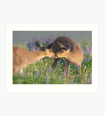 Deer Dear Kisses Art Print