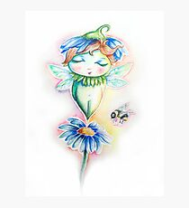 Flower Fairy Watercolor  Photographic Print
