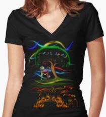Radiohead King of Limbs Women's Fitted V-Neck T-Shirt