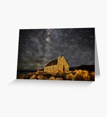 Tekapo Star Trails Greeting Card