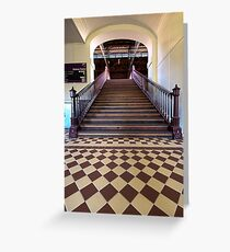Crossing to Platform One. Greeting Card