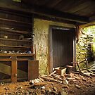 Interior of derelict house - sperrins  by Fred Taylor