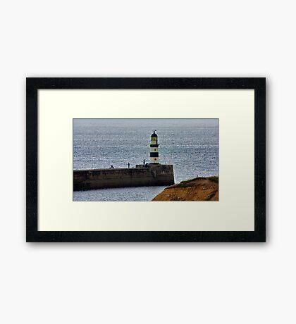 Seaham Harbour Light Framed Print