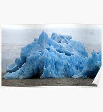 Iceberg in front of glacier Poster
