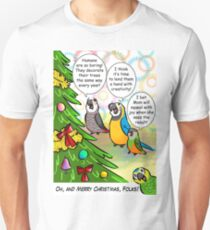 Parrots and Christmas tree Unisex T-Shirt