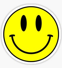Acid House Smile Face Sticker