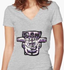 Purple Cat Fitted V-Neck T-Shirt