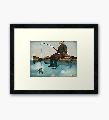 Sky Fishing Framed Print