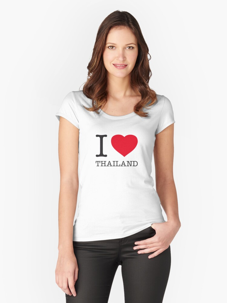 I ♥ THAILAND Women's Fitted Scoop T-Shirt Front