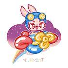 Moon Bunnies: Balloon Aeroplane by Indigo East