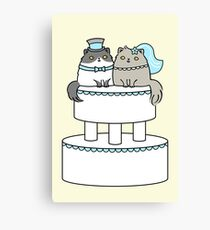 Kitty Cat Wedding Canvas Print