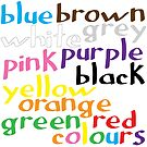 English colour words by Morag Anderson