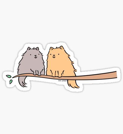 Fluffy Cat Couple  Sticker
