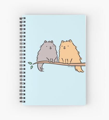Fluffy Cat Couple  Spiral Notebook