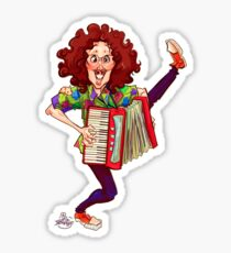 Alfred (Weird Al) Yankovic and Harvey the Wonder Hamster Sticker