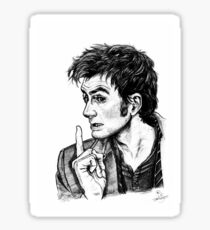 "The Doctor - David Tennant - ""Fingers on Lips!"" Sticker"