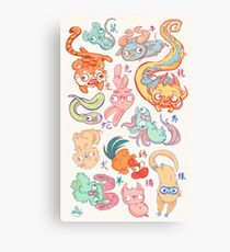 Chinese Animals of the Year Canvas Print