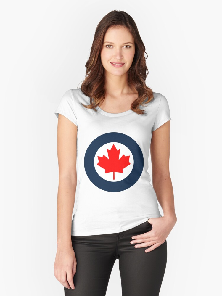 RCAF Roundel Women's Fitted Scoop T-Shirt Front