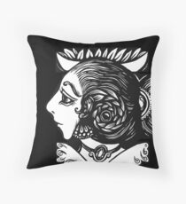 Toad Lady Throw Pillow