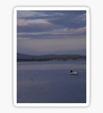 White Boat  Sunset- Burtonport - Donegal -  Ireland Sticker