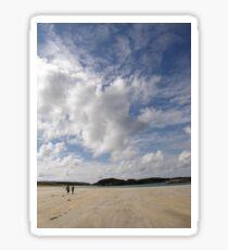 Walking Keadue Beach Donegal Ireland Sticker