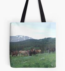 THE BLACKFOOT BAND AND THE SORREL STUD - Near Browning, MT Tote Bag