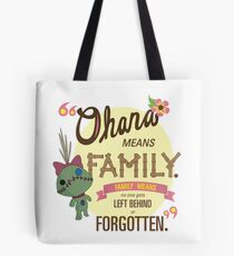 Ohana - Lilo and Stitch Quote Tote Bag