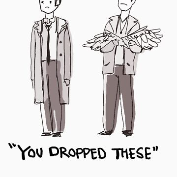 "Dean/Cas: ""You Dropped These"" by thegestianpoet"