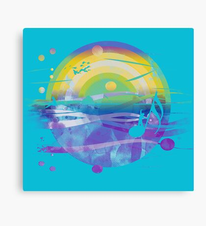 singing in the sea Canvas Print