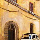 FIAT 500 oil on canvas by Sandro Vivolo