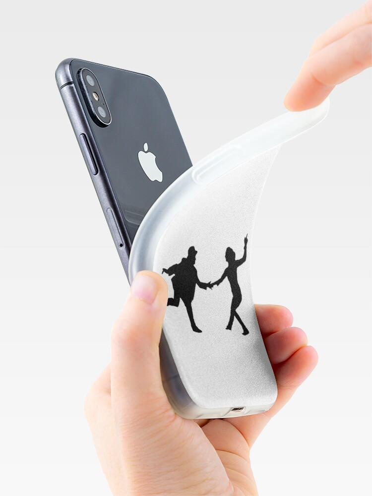 Vista alternativa de Funda y vinilo para iPhone Baile swing