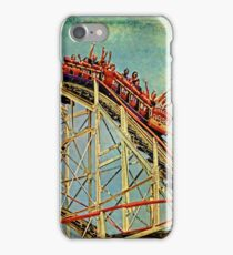 Riding The Famous Cyclone Roller Coaster iPhone Case/Skin