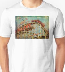 Riding The Famous Cyclone Roller Coaster Unisex T-Shirt