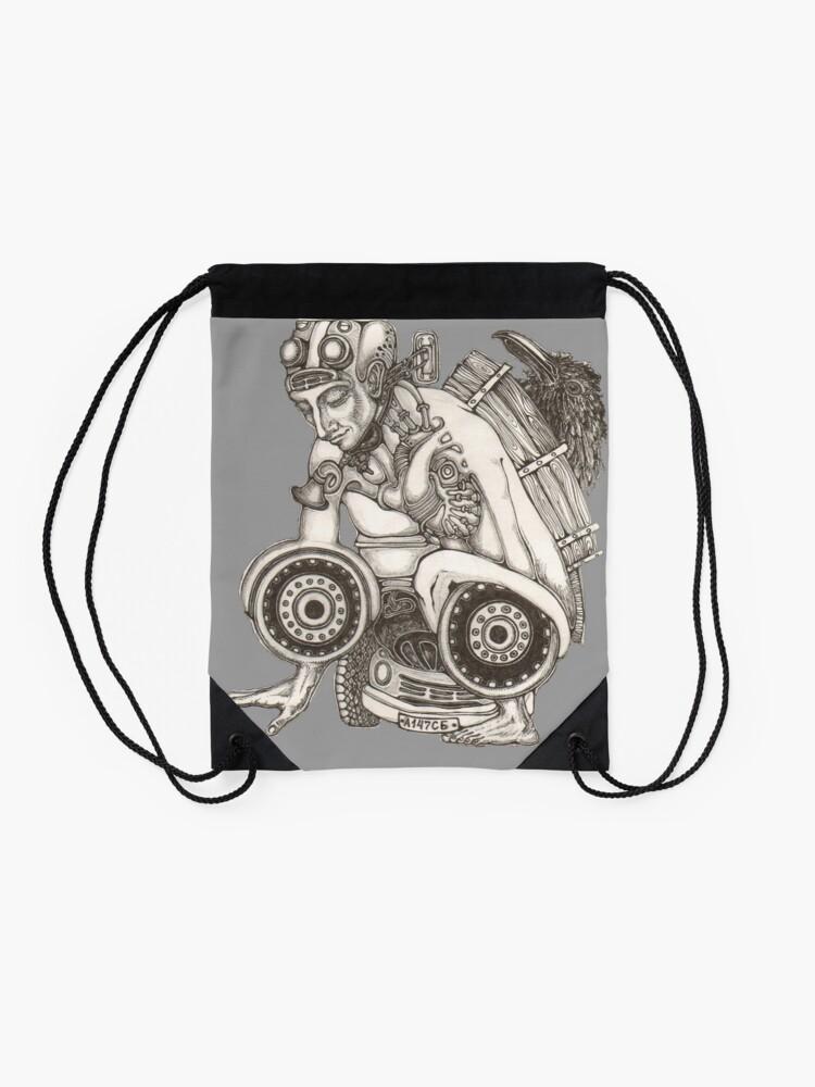 Alternate view of Automobile Heart & Soul Drawstring Bag