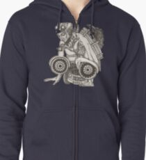 Automobile Heart & Soul Zipped Hoodie